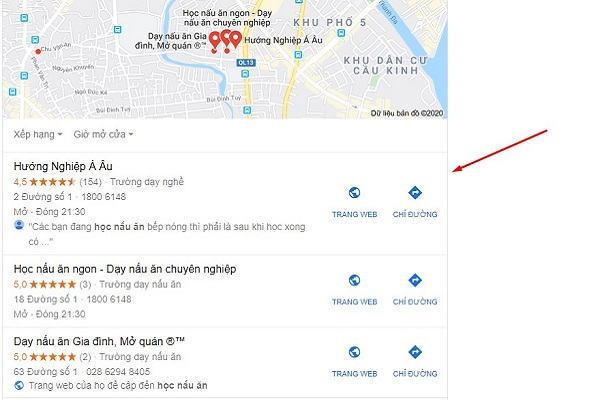 seo google map lên top